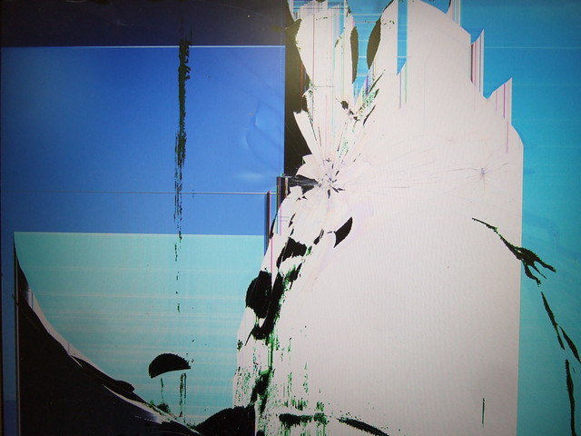 Broken laptop screen