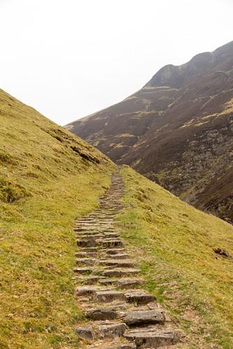 steps in a hillside