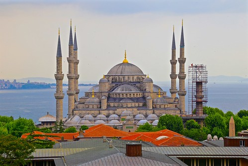 View of the Blue Mosque from Hotel Nena