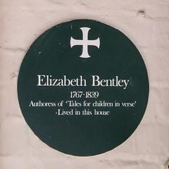 Photo of Elizabeth Bentley green plaque