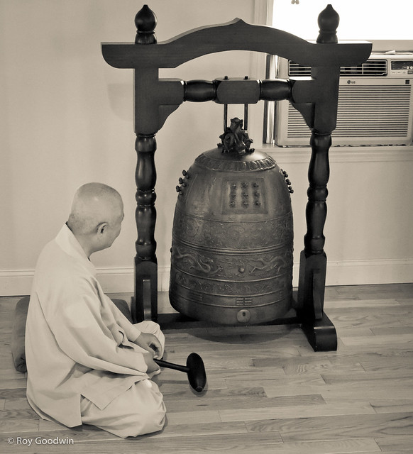 Doe Bom Kun Sunim Strikes the New Bell