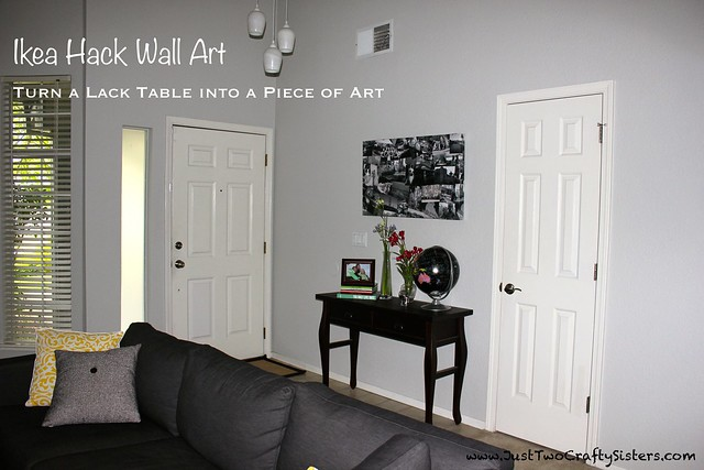 Ikea Hack - Lack table to wall art