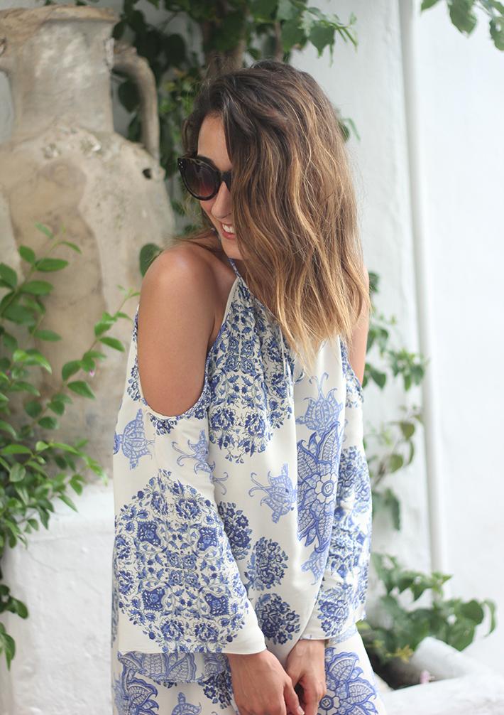 Summer White And Blue Dress Ibiza10
