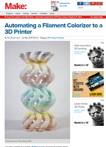 Make Screenshot - Automating a Filament Colorizer to a 3D Printer