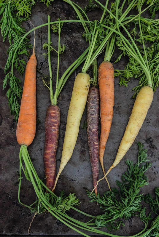 Rainbow Heirloom Carrots
