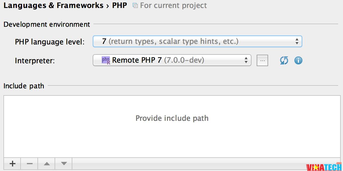 phpstorm Hỗ trợ một phần php7