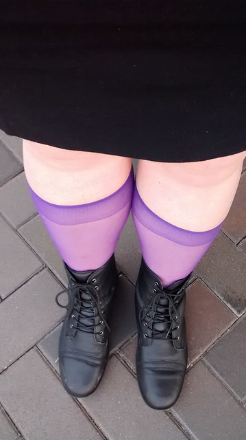purple knee highs