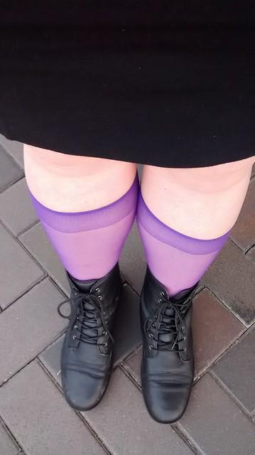 purple knee highs