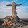 This massive statue of Jesus sits atop a hill on the compound of the Catholic Diocese of Lodwar. It was the first thing I saw when I stepped off the plane. I wanted up there.   When we arrived at sunrise on our final morning, the gate was locked.   As we