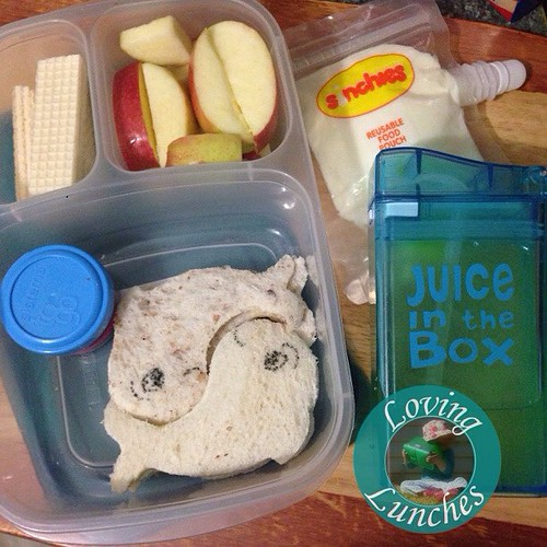 Loving something a little fishy in Miss M's @easylunchboxes today…