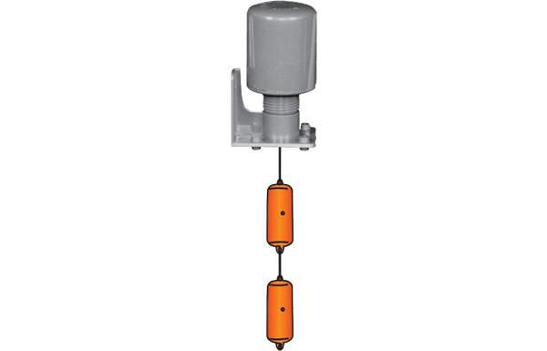 Phao điện dùng trong bồn chứa nước tập trung