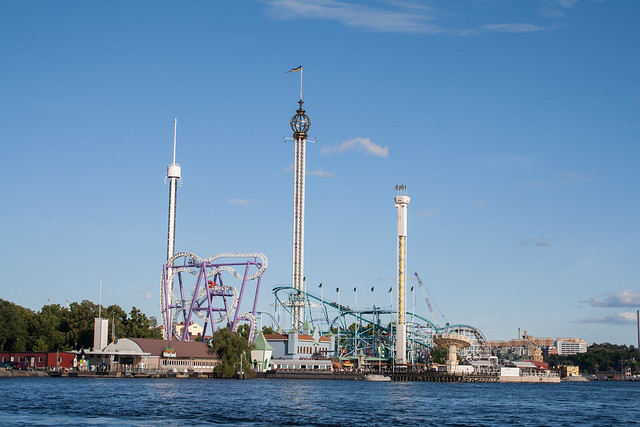 Grona Lund from the water