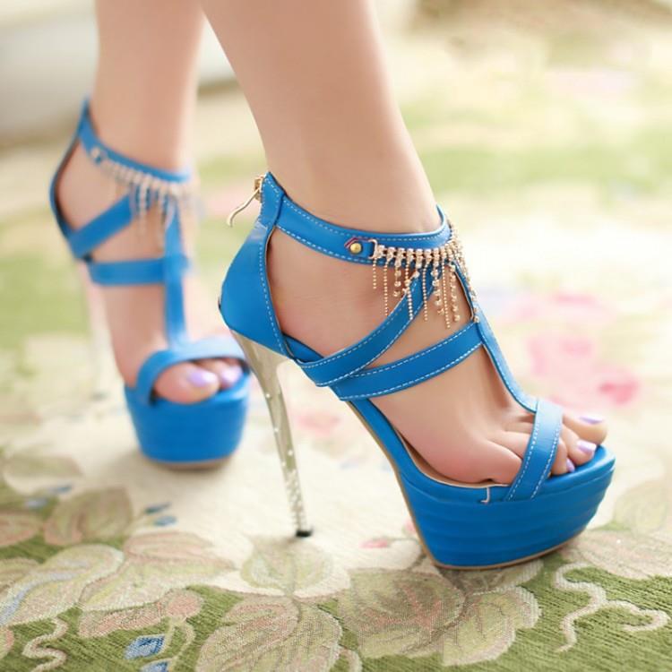 Solid Color Highheel Sandals