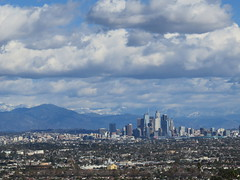 Downtown Los Angeles and Snow