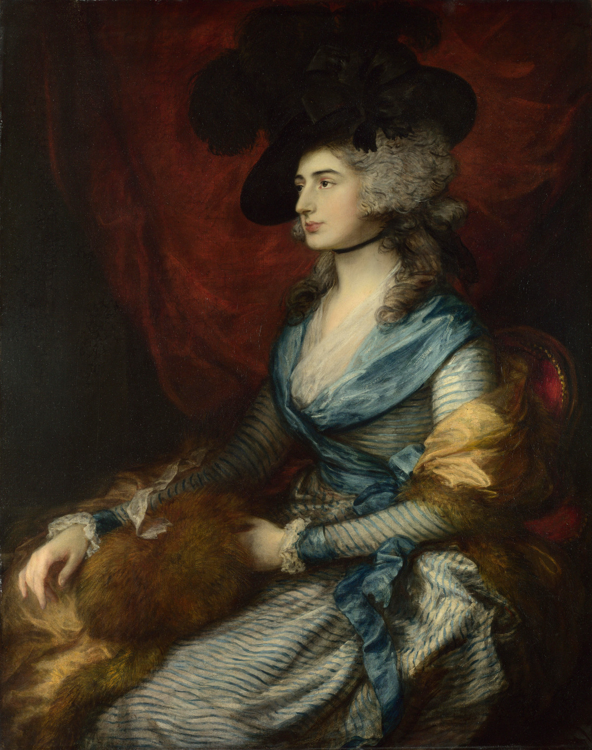 Portrait of Mrs. Sarah Siddons by Thomas Gainsborough, 1785