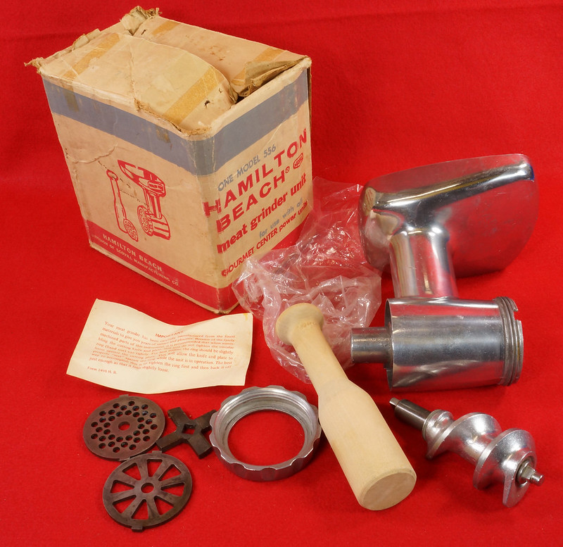 RD9230 Vintage Hamilton Beach Meat Grinder Model 556 for all Gourmet Center Power Units DSC08553