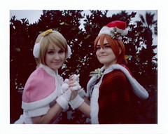 Courtney and Holly as Hanayo and Rin at Anime LA 2016