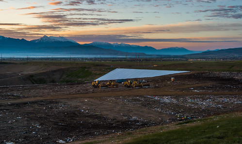 Sunrise Over the Trans Jordan Landfill by Geoff Livingston