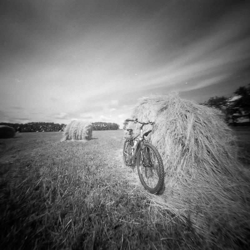 Bike and hay