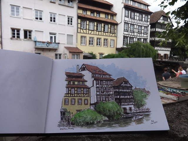Sketching in Petite France