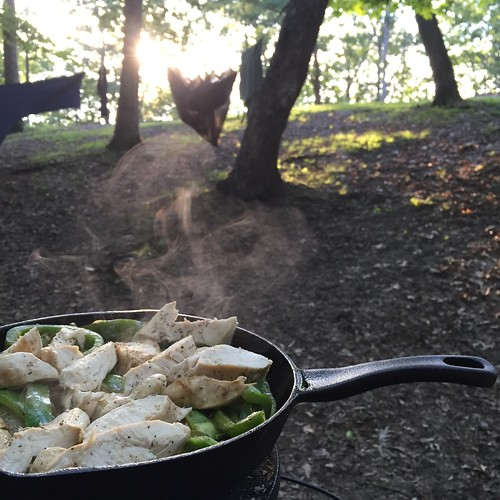 chicken fajita camping