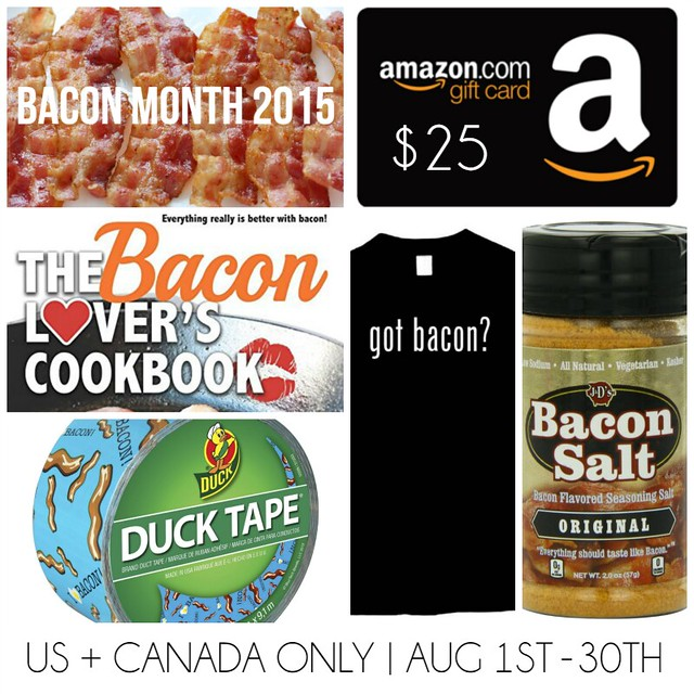 Bacon month and a giveaway! August 31st is International Bacon Day and several bloggers have gotten together to bring you amazing new bacon recipes all month long!