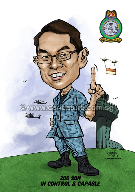 digital caricature for Singapore Air Force 09072015 -2 (watermarked)