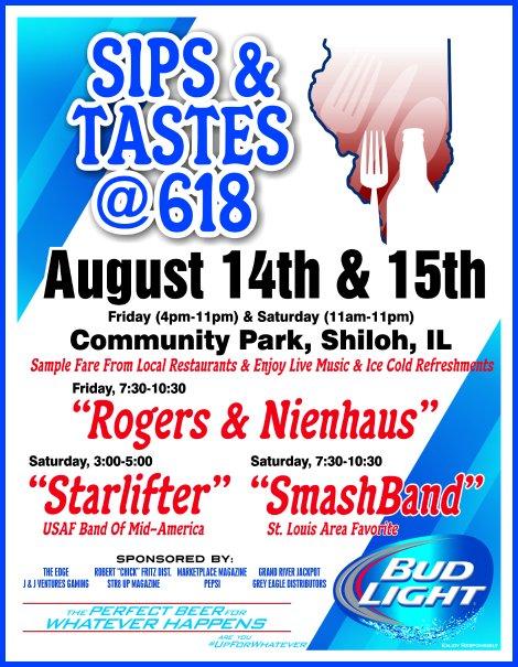 Sips & Tastes 8-14, 8-15-15