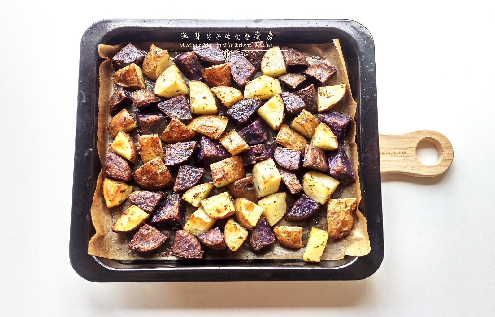 孤身廚房-香草烤雙色馬鈴薯──好吃又簡單的烤箱料理12