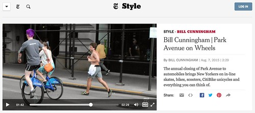 CitiBike unicycle in NYT Style Section