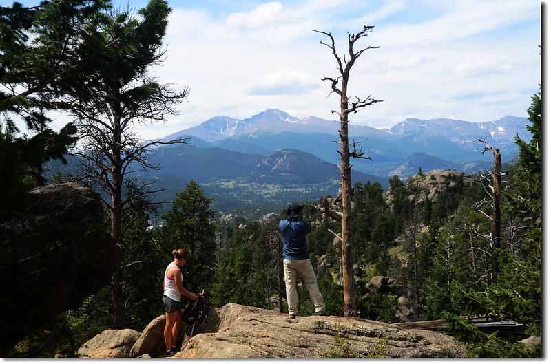 Looking toward Longs Peak from Lumpy Ridge Trail