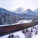 Speed   Morant's Curve, Canadian Rockies by v on life