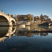 Low tide, Tiber, Rome by dav fan