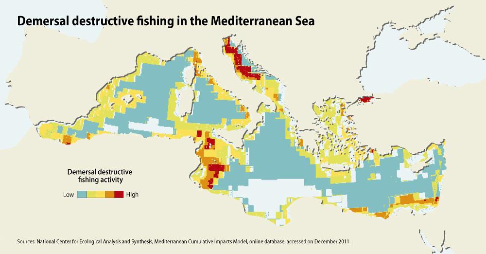 Demersal Destructive Fishing In The Mediterranean Sea