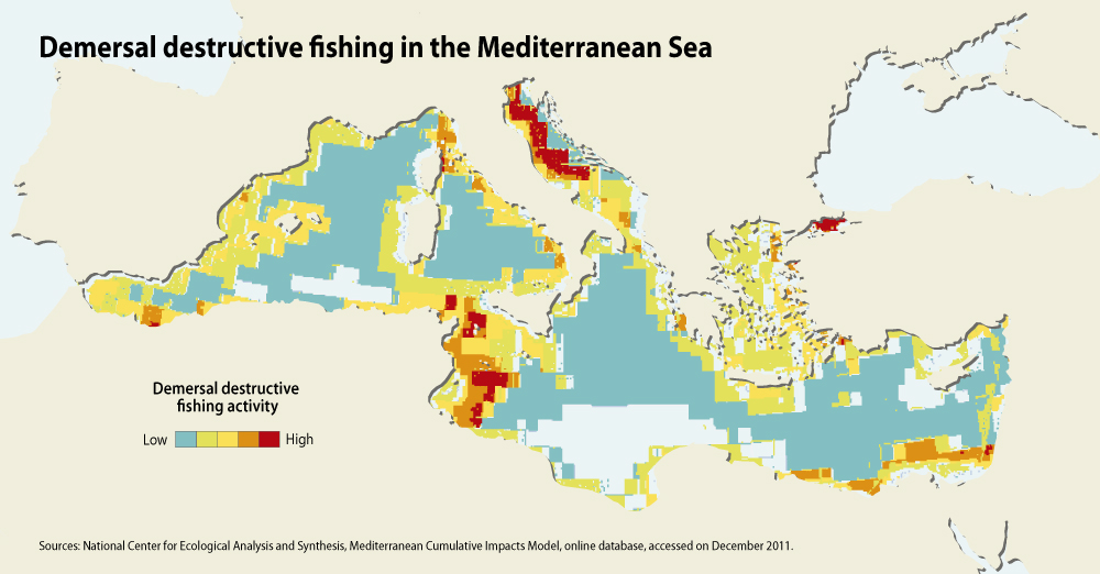 Demersal destructive fishing in the Mediterranean Sea | GRID-Arendal