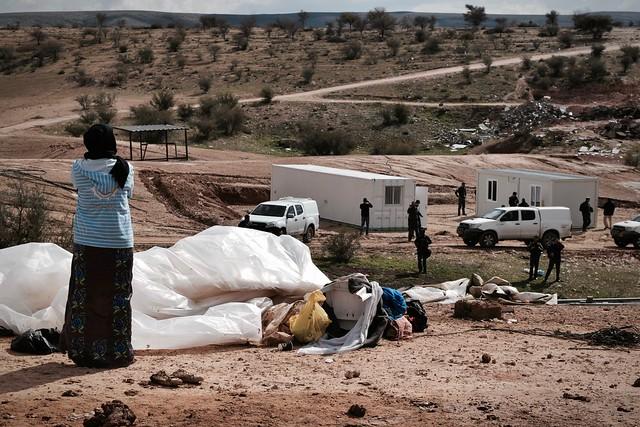 Policiais israelense retornam à vila beduína de Umm Al Hiran após destruição de casas  - Créditos: Júlia Dolce/BdF