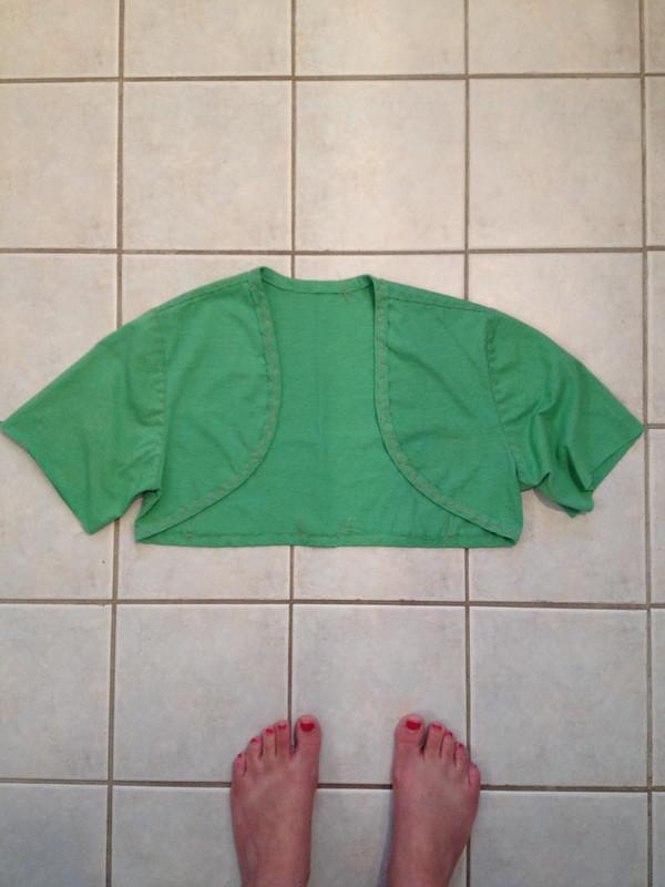 green short sleeve bolero