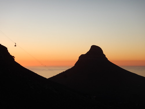 Sunset behind Lion's Head