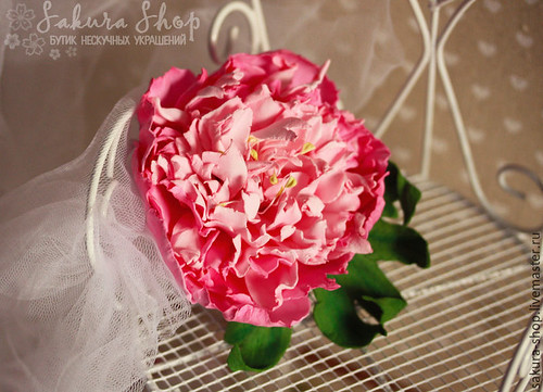 imperial peony brooche