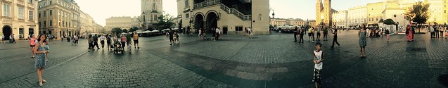 Stare Miasto in Krakow (panorama with two Lindsey)