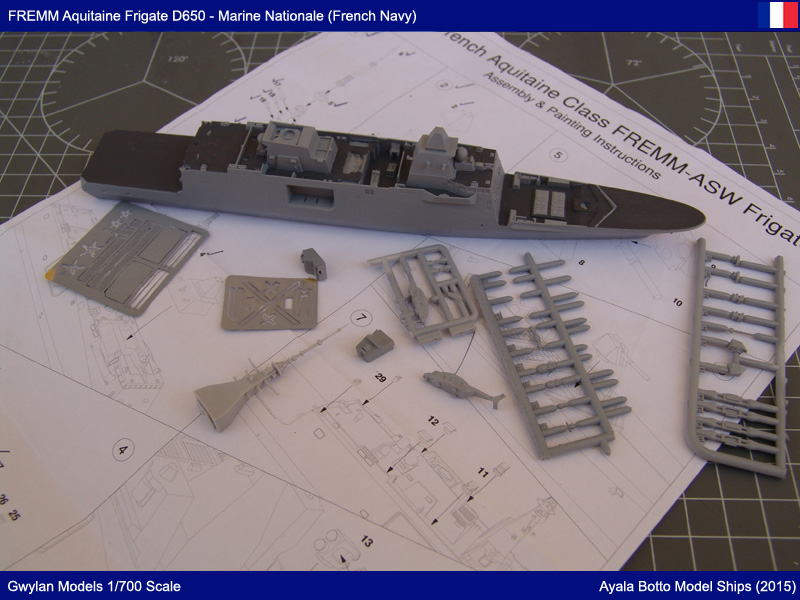FREMM Aquitaine D650 Frégate ASM - Gwylan Models 1/700 par Ayala Botto 19359771198_7bbc734f33_o