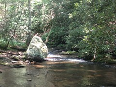 Boulder on Low Gap Creek