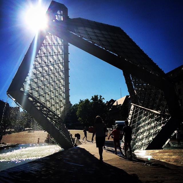 Plac Wolnosci's fountain