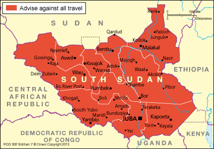 South Sudan FCO travel advice