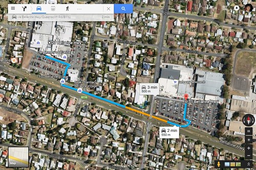 Only 500 metres between two Woolworths supermarkets in Newcomb, Victoria