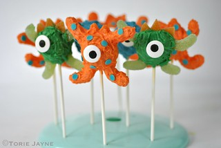 Gluten free monster cake pops
