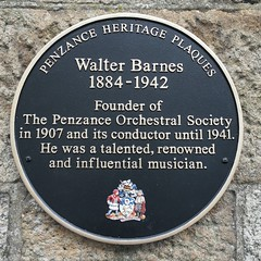 Photo of Walter Barnes black plaque