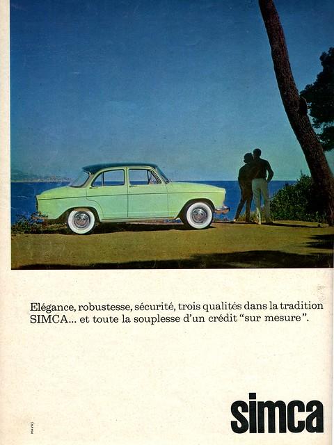 Pub SIMCA Aronde Elysée P60 (Oct. 1961)