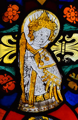 crowned angel playing a harp (East Anglian, 15th Century)