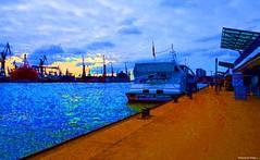 NathalieLauro, grafic art, digital art, colors, design, variations,boats, habor, sea, sun,  , Monaco, Monte Carlo, French Riviera, Cannes. Marseille, Corsica,Hambour, (69)